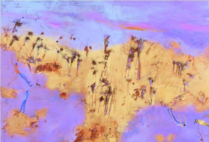 desert landscape 1988 oil-canv 118x173
