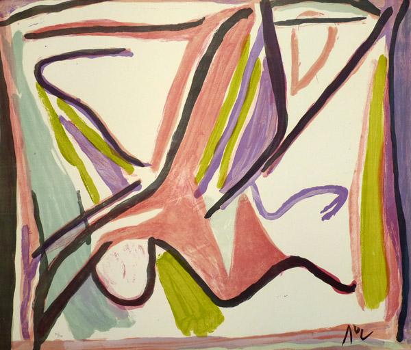 Séparation 1981, Lithographie 62,6 x 71,9 cm